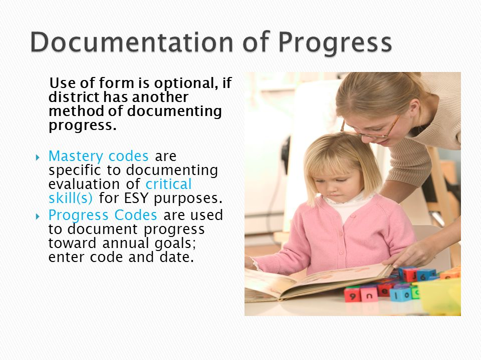 Documentation of Progress
