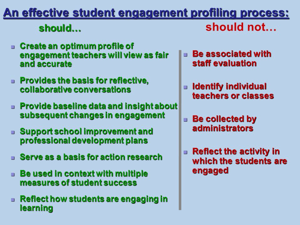 An effective student engagement profiling process: