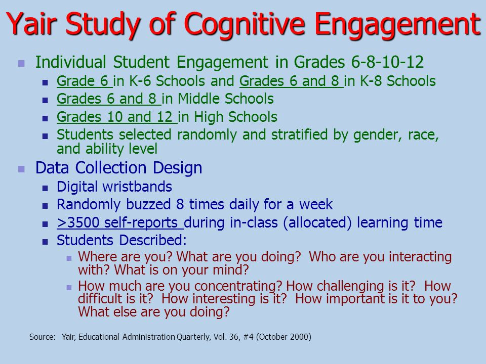 Yair Study of Cognitive Engagement