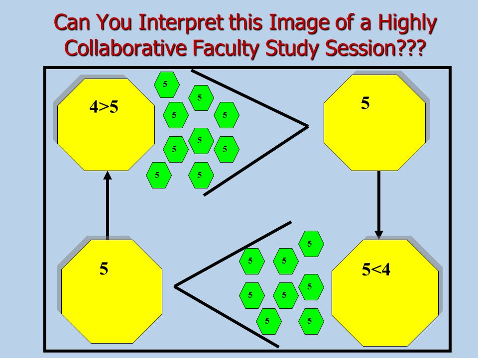 Can You Interpret this Image of a Highly Collaborative Faculty Study Session