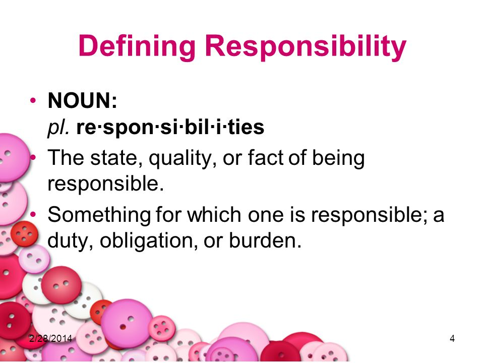 Defining Responsibility