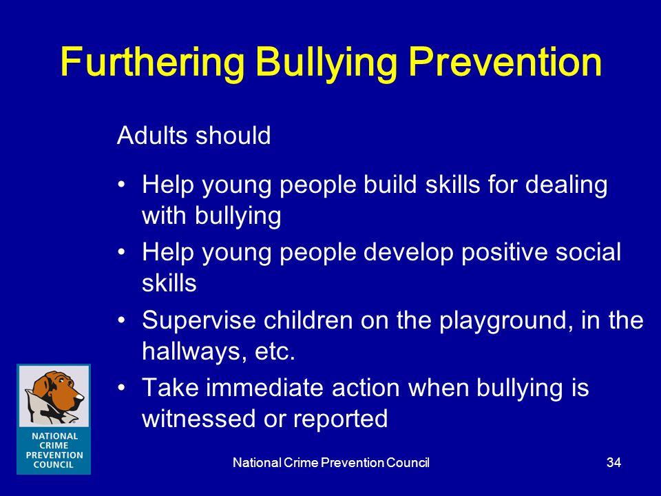 Furthering Bullying Prevention