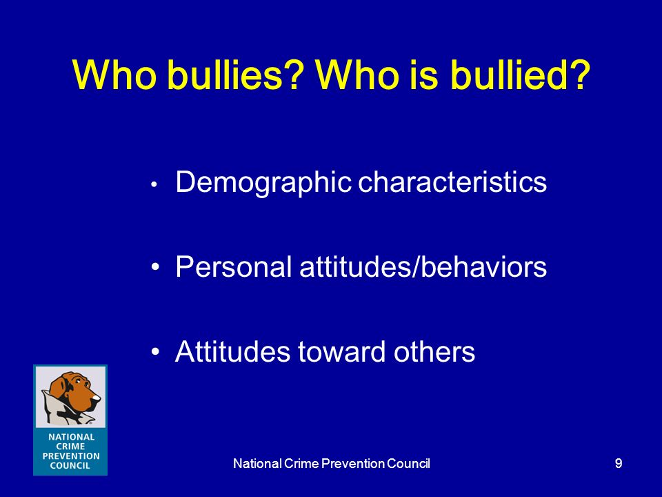 Who bullies Who is bullied