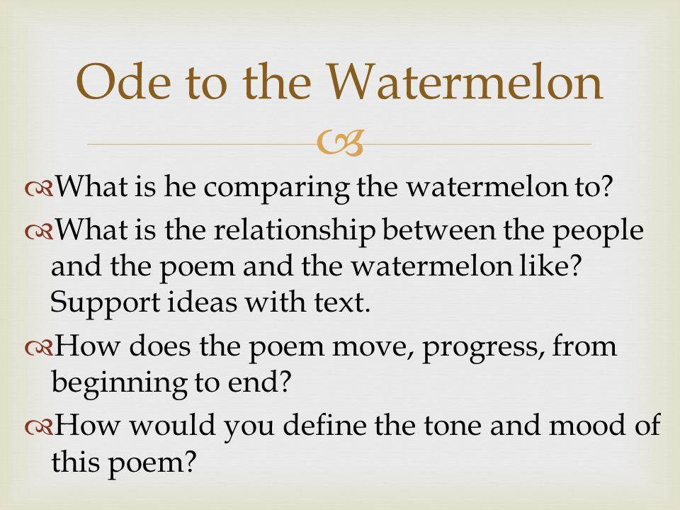 small poem on watermelon