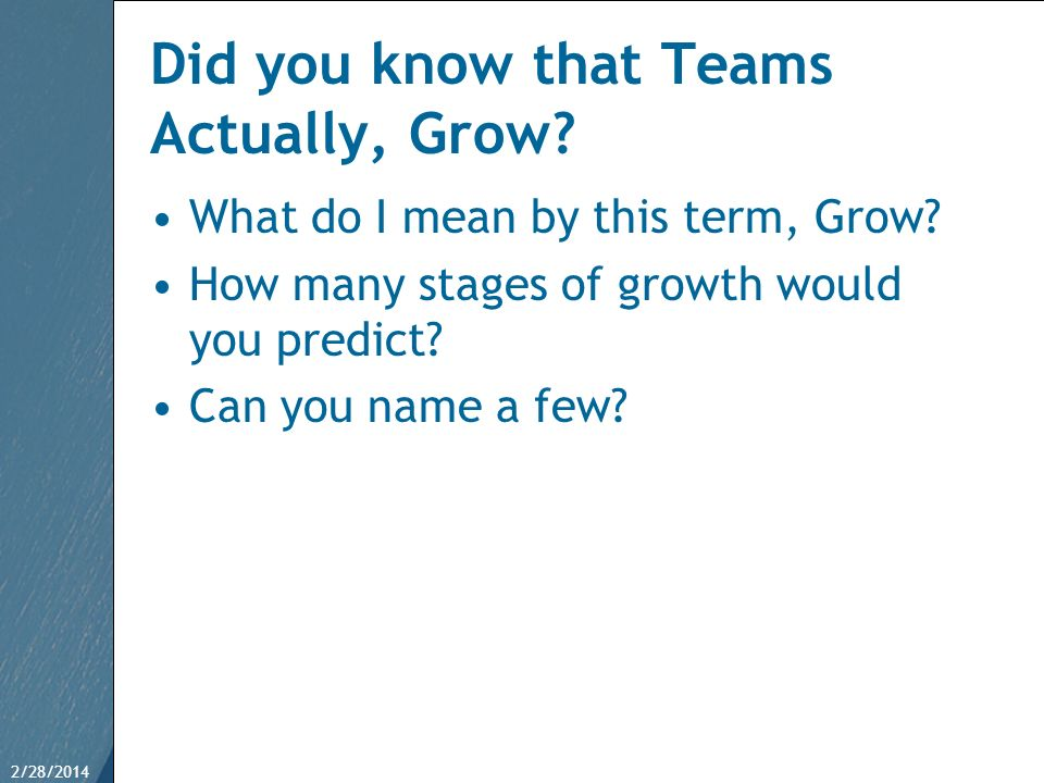 Did you know that Teams Actually, Grow