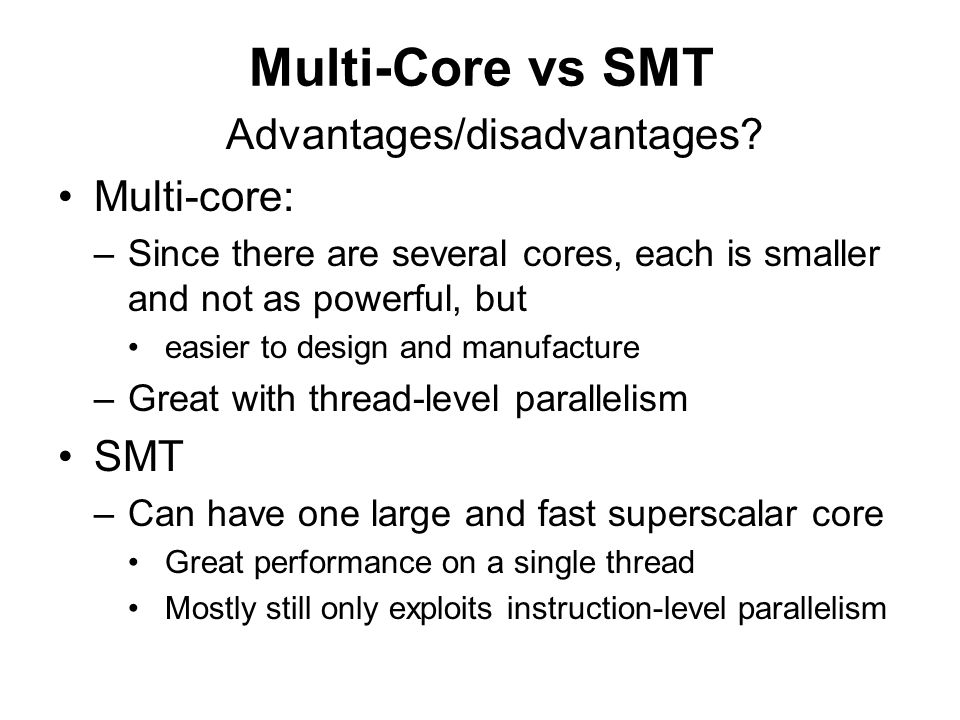 Multi-Core Architectures - ppt video online download