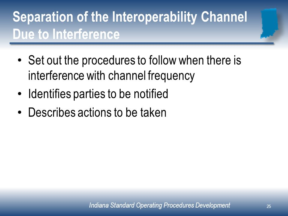 Separation of the Interoperability Channel Due to Interference