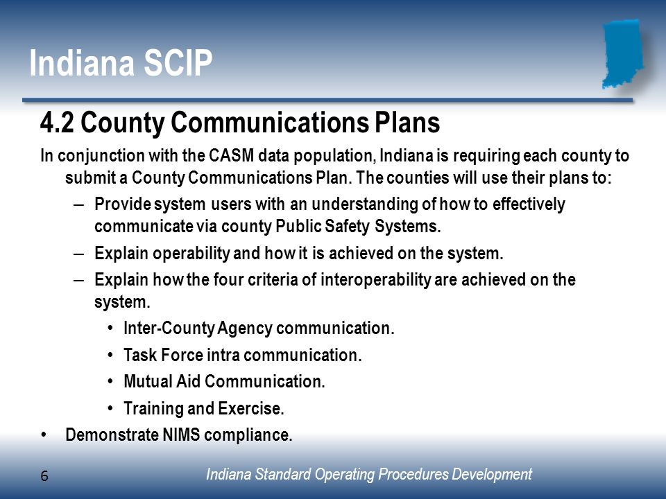 Indiana SCIP 4.2 County Communications Plans