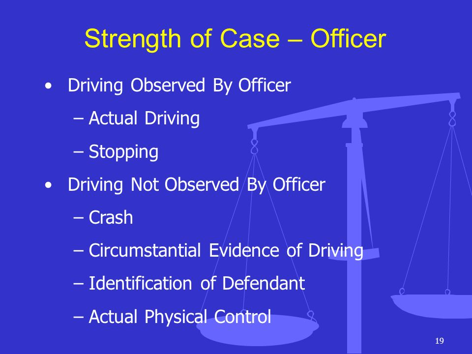 Strength of Case – Officer