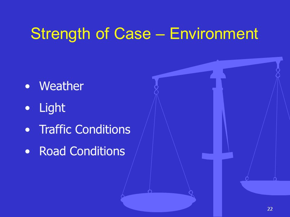 Strength of Case – Environment