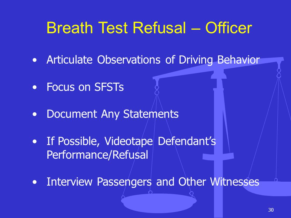 Breath Test Refusal – Officer
