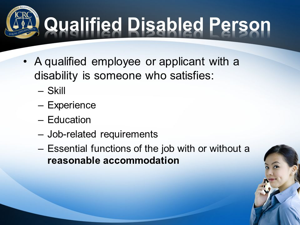 Qualified Disabled Person
