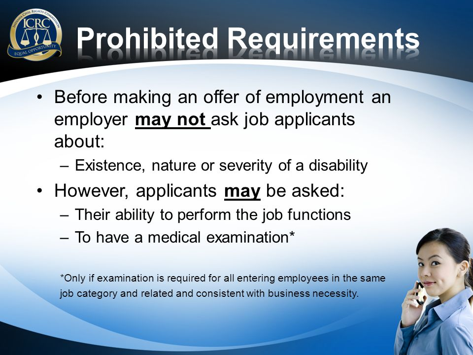 Prohibited Requirements