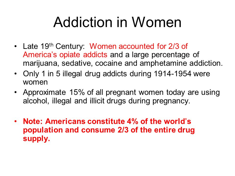 Addiction in Women