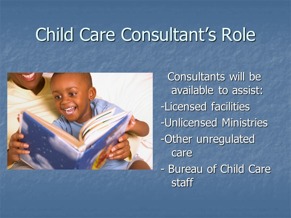 Child Care Consultant's Role