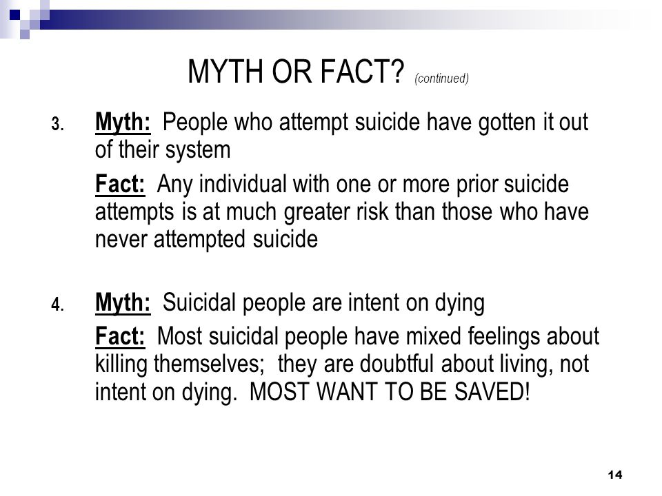 MYTH OR FACT (continued)
