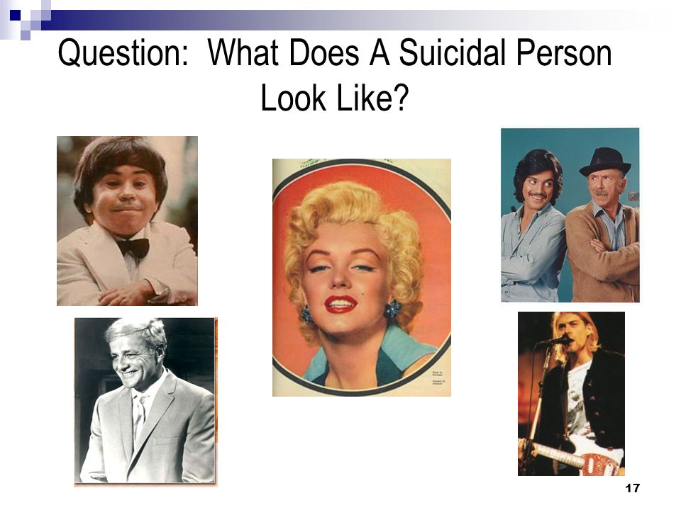 Question: What Does A Suicidal Person Look Like