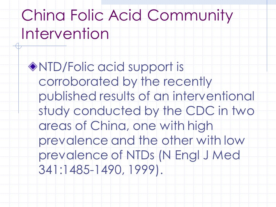 China Folic Acid Community Intervention