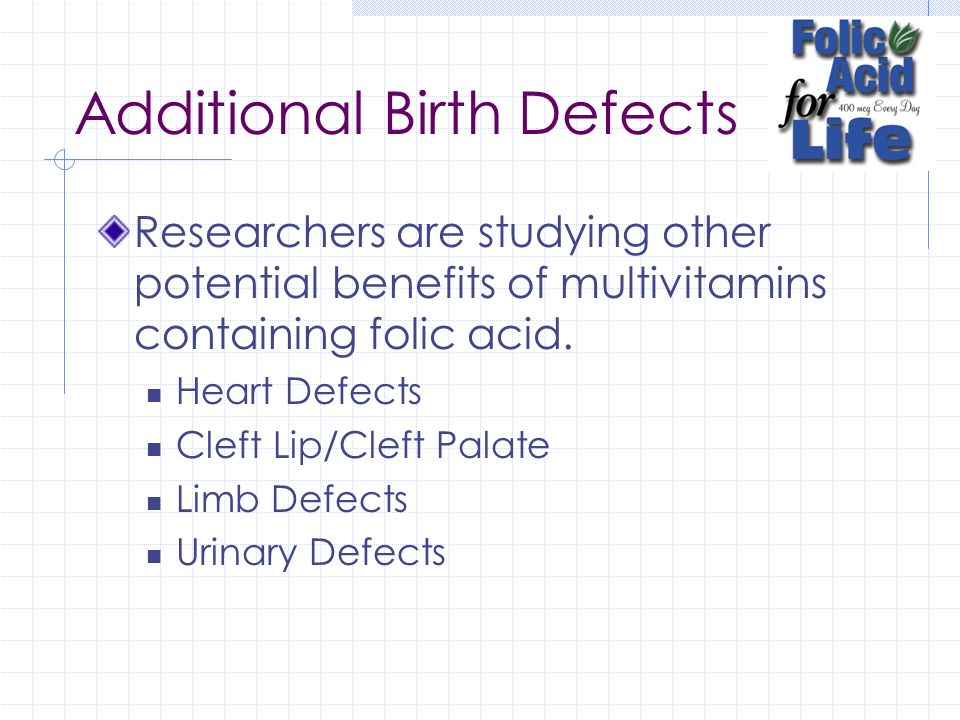 Additional Birth Defects