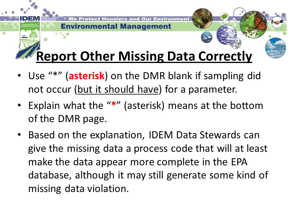 Report Other Missing Data Correctly
