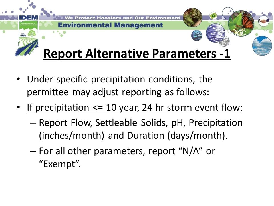 Report Alternative Parameters -1