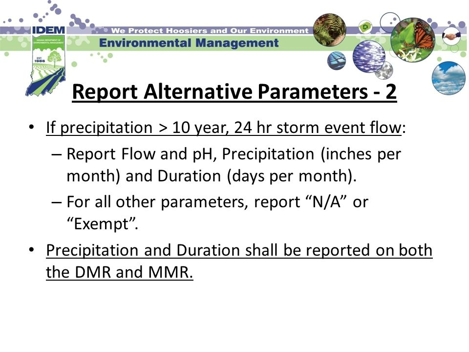 Report Alternative Parameters - 2
