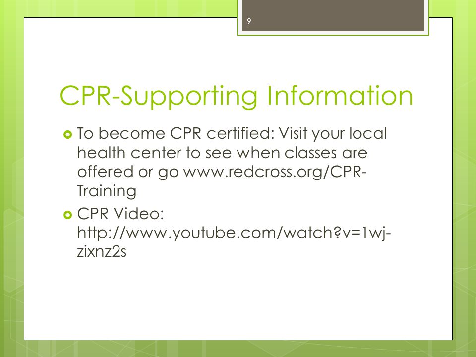 Medical Emergencies Cpr And Choking Ppt Download