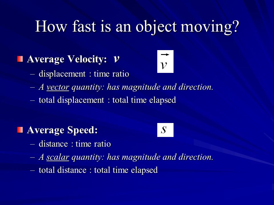 How fast is an object moving