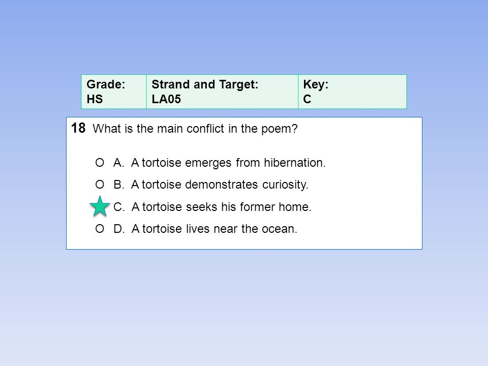 18 What is the main conflict in the poem