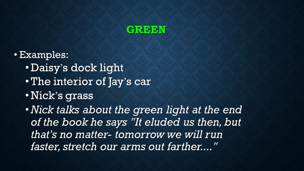 green light meaning in the great gatsby