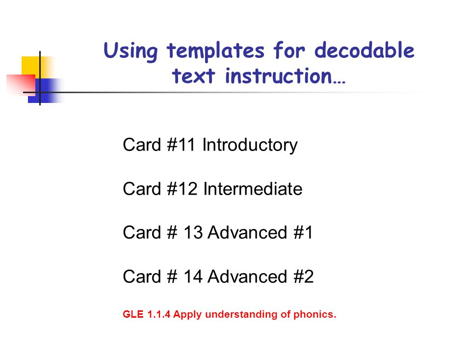 Using templates for decodable text instruction…