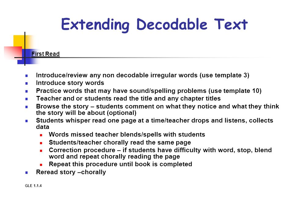 Extending Decodable Text