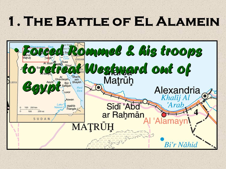 1. The Battle of El Alamein
