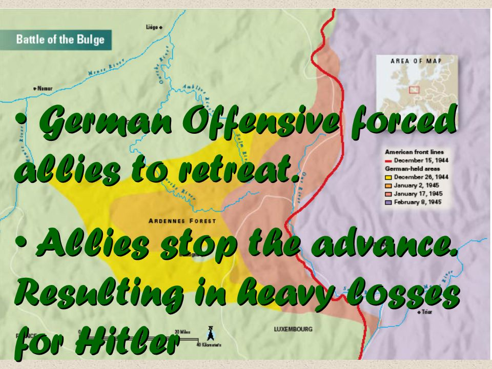 German Offensive forced allies to retreat.