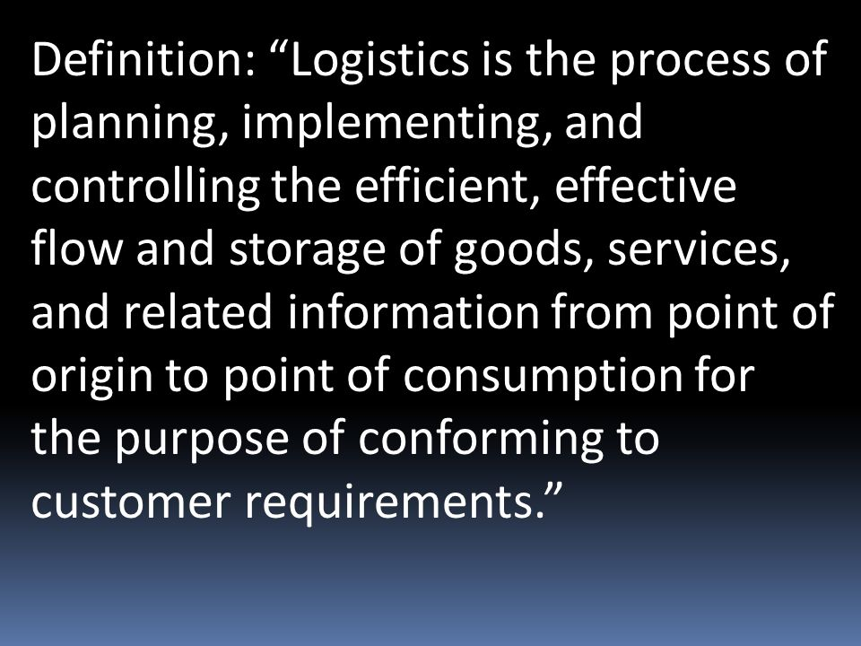 Elements of Logistics and Supply Chain Management  - ppt download