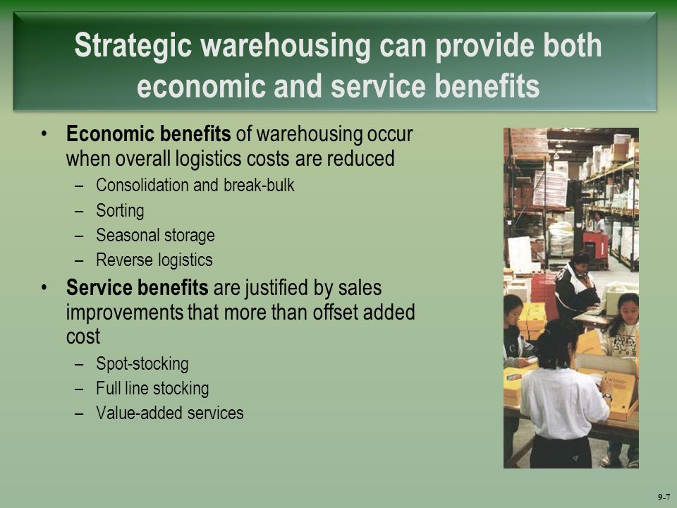 conclusion of warehousing Warehousing is an integral part of supply chain is the backbone of any manufacturing or distribution business and to make it more effective and efficient there is a need to measure its performance.