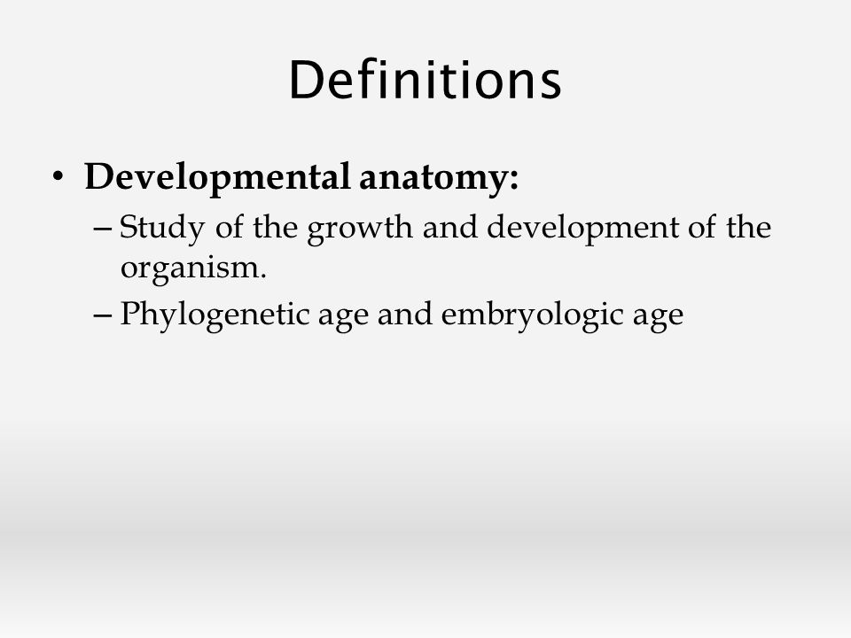Famous Developmental Anatomy Definition Gallery - Anatomy And ...