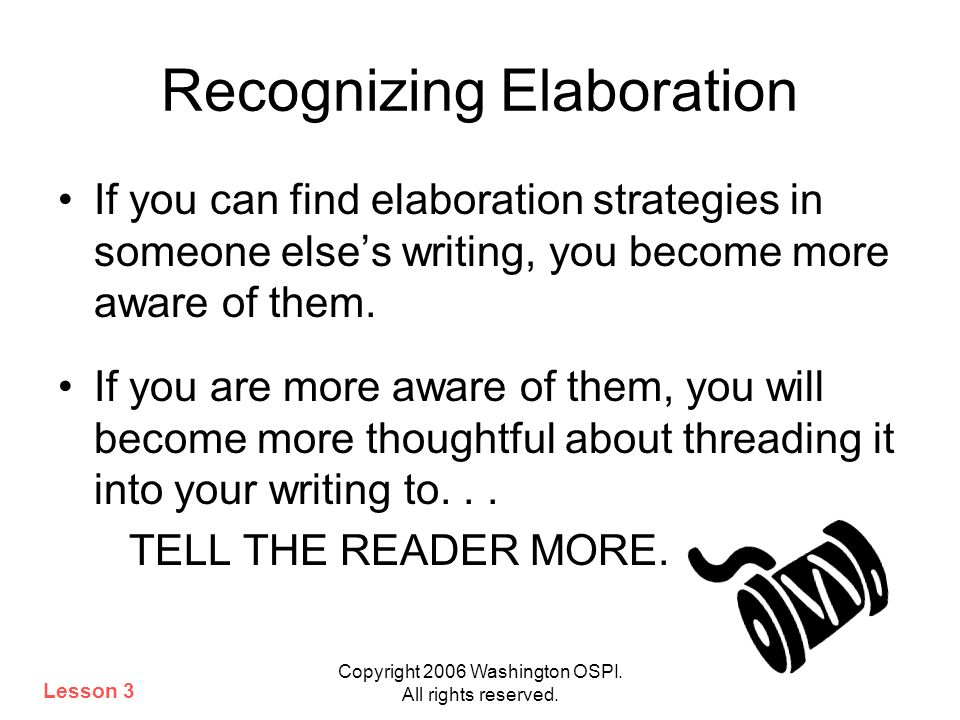 Recognizing Elaboration