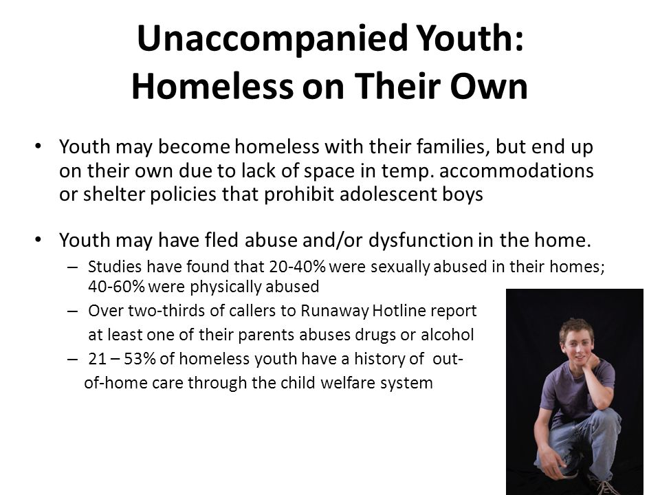 Unaccompanied Youth: Homeless on Their Own