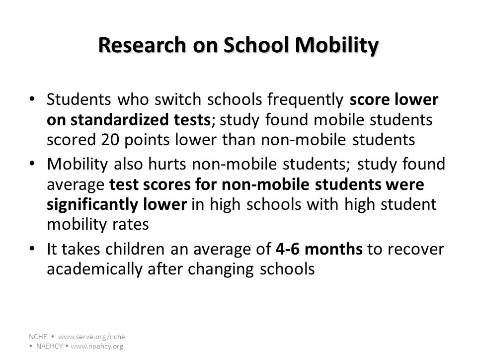 Research on School Mobility