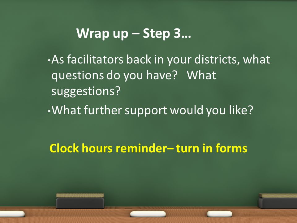 Clock hours reminder– turn in forms