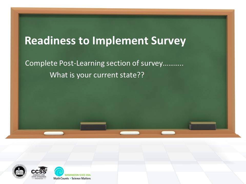 Readiness to Implement Survey