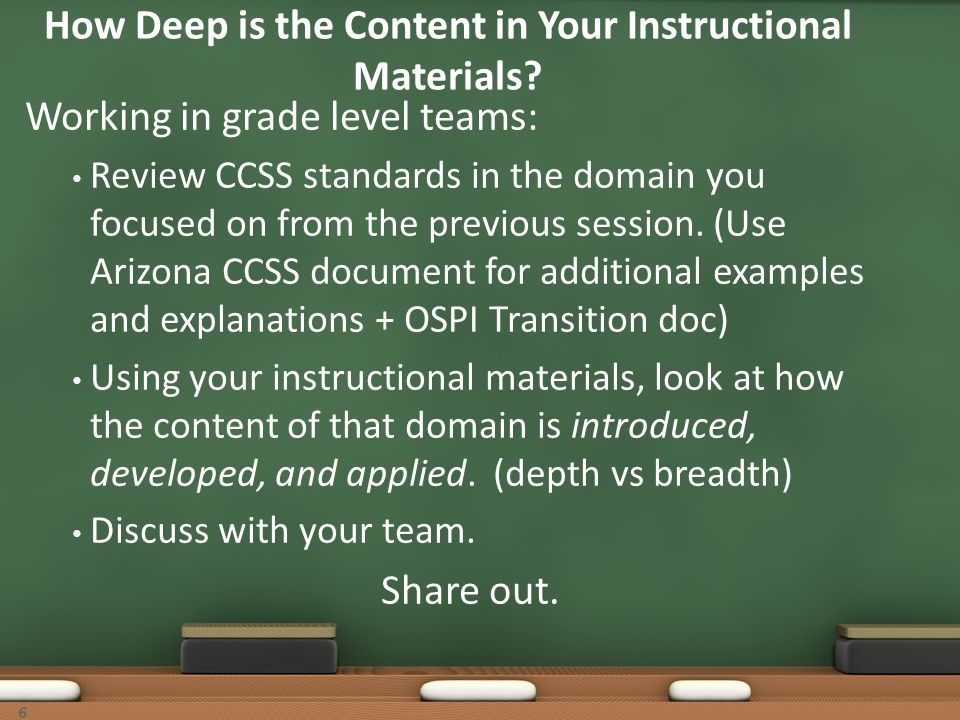 How Deep is the Content in Your Instructional Materials
