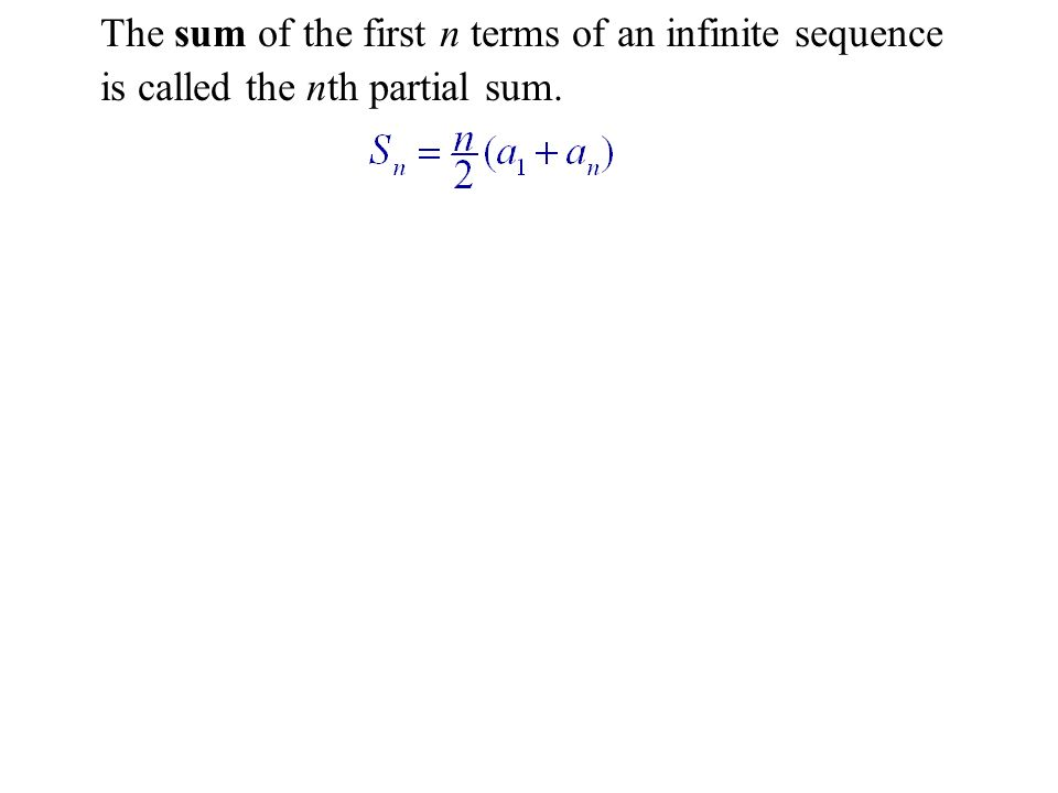 Example: The nth Partial Sum