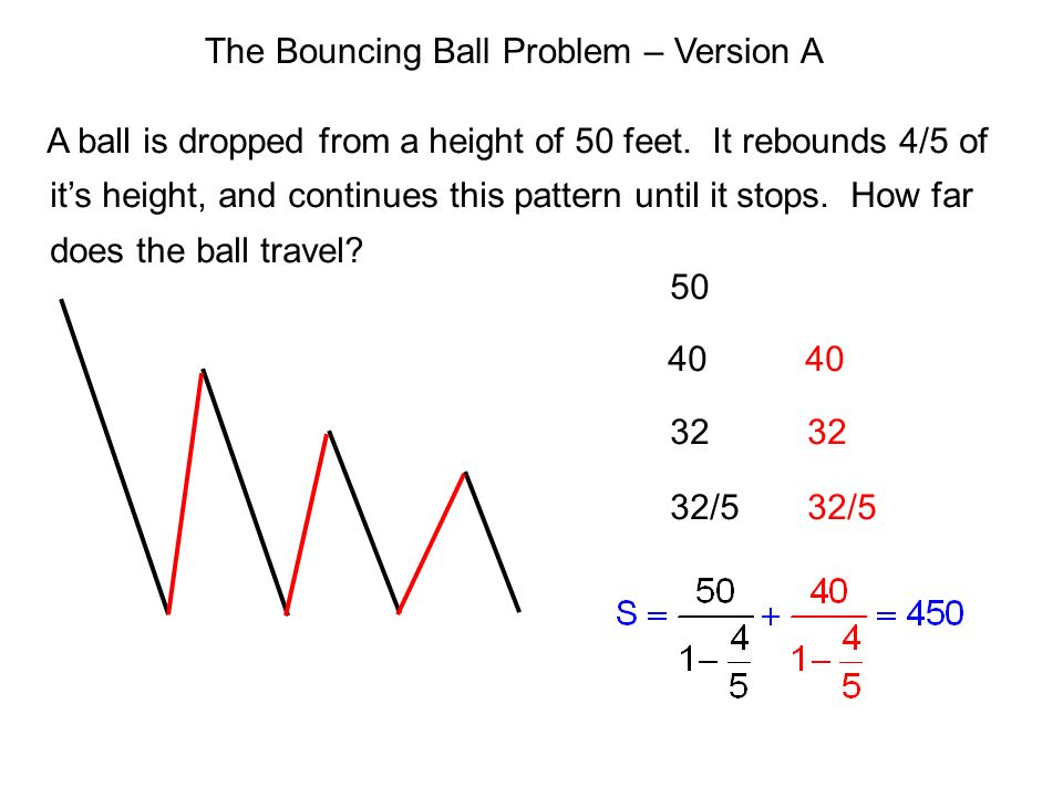The Bouncing Ball Problem – Version A