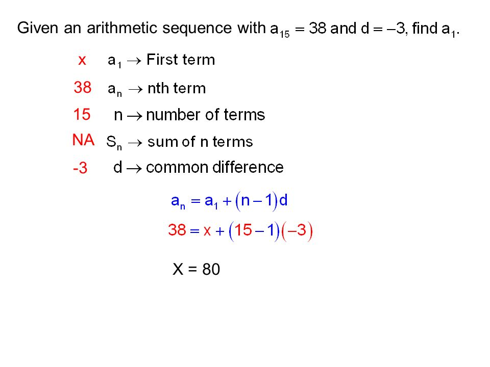 Given an arithmetic sequence with
