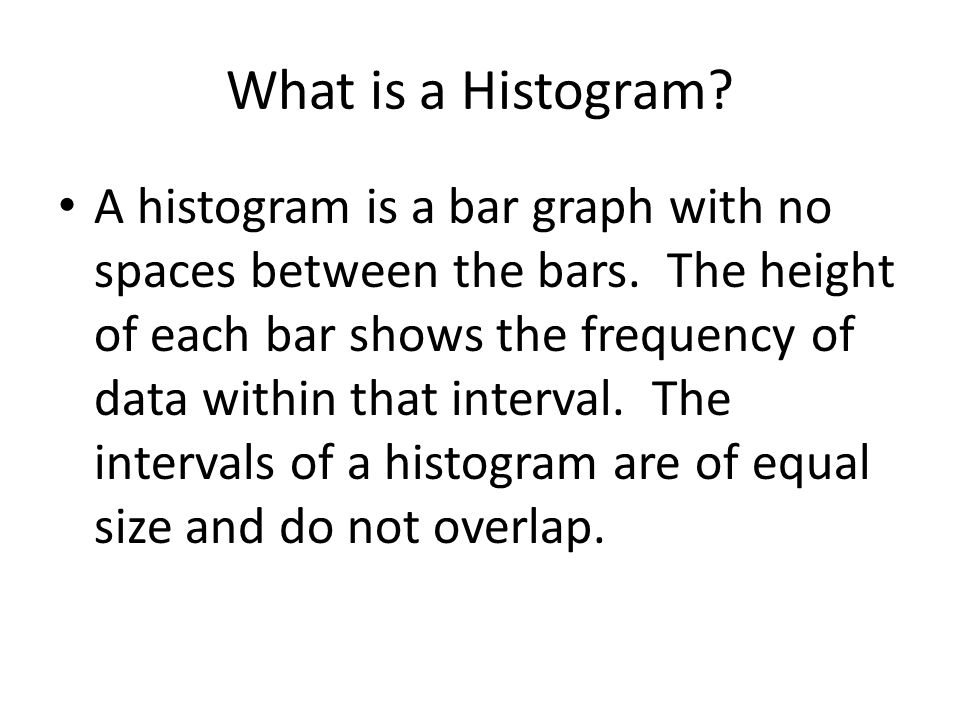 What is a Histogram
