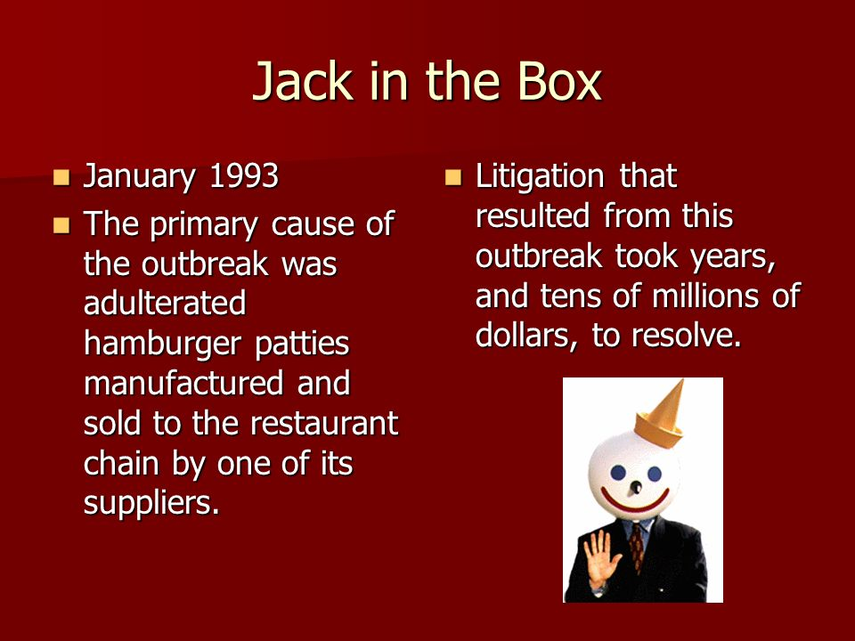 Jack in the Box January 1993.