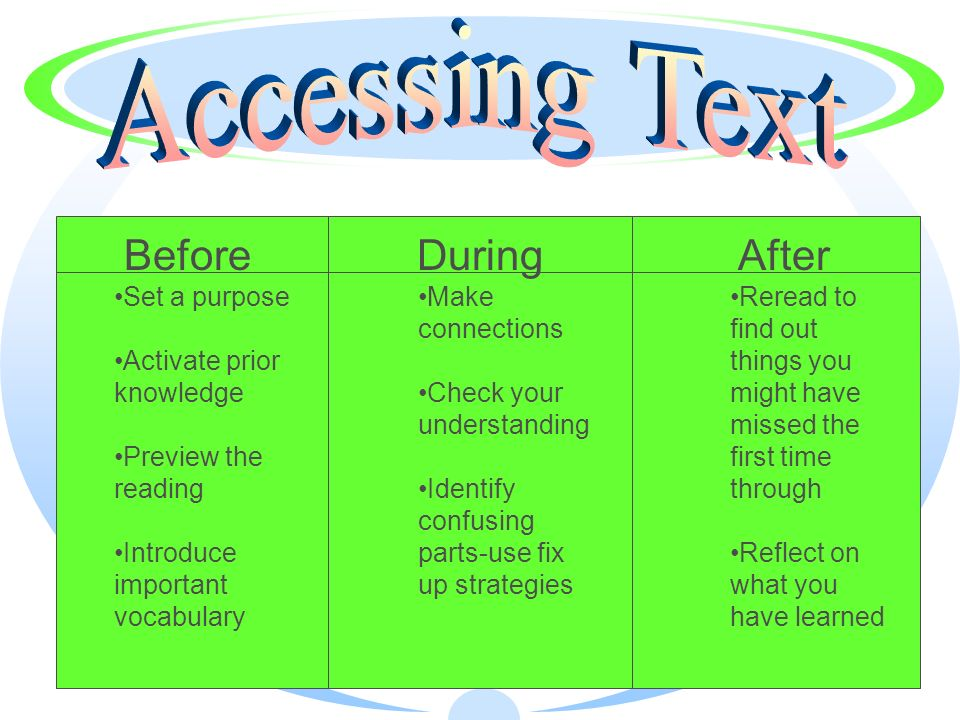Accessing Text Before During After Set a purpose