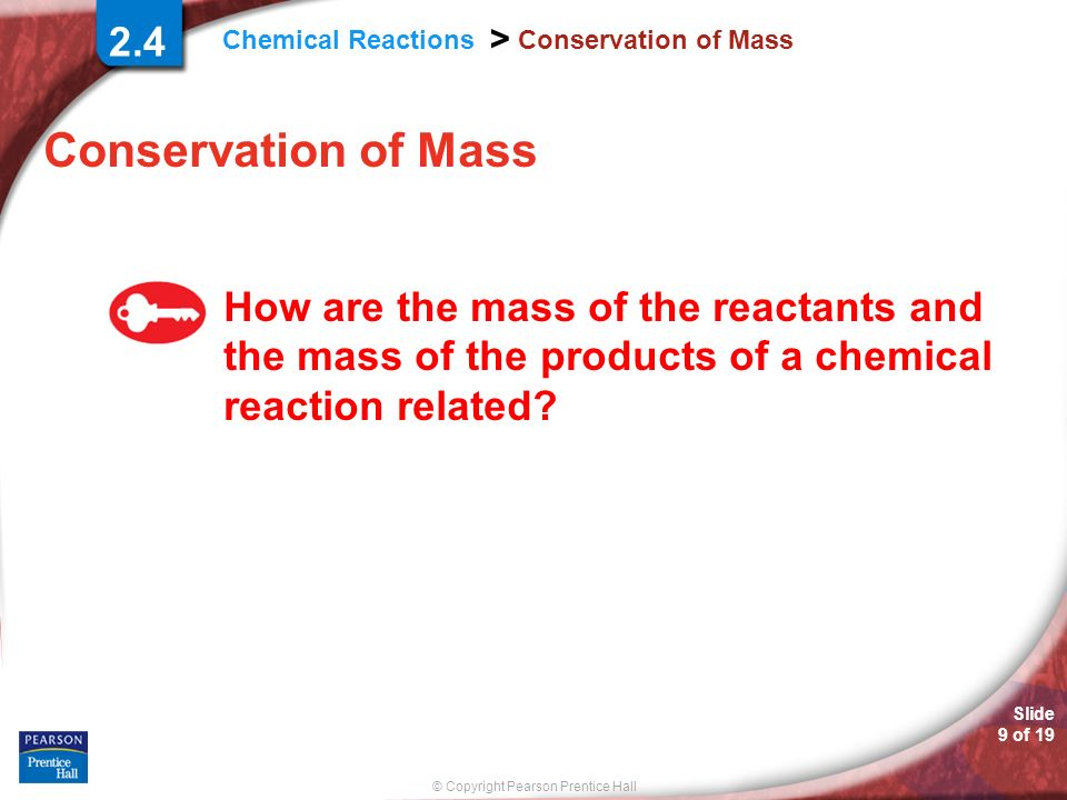 2.4 Conservation of Mass. Conservation of Mass.
